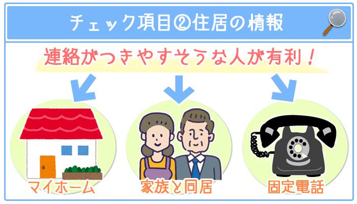 チェック項目②住居の情報