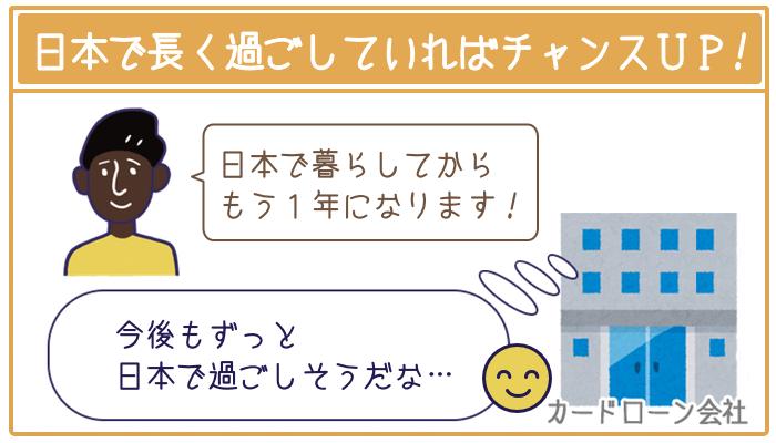 日本で長く過ごしていればチャンス