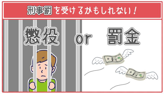 収入証明書を偽造すると2つの刑事罰に問われてしまう恐れがある