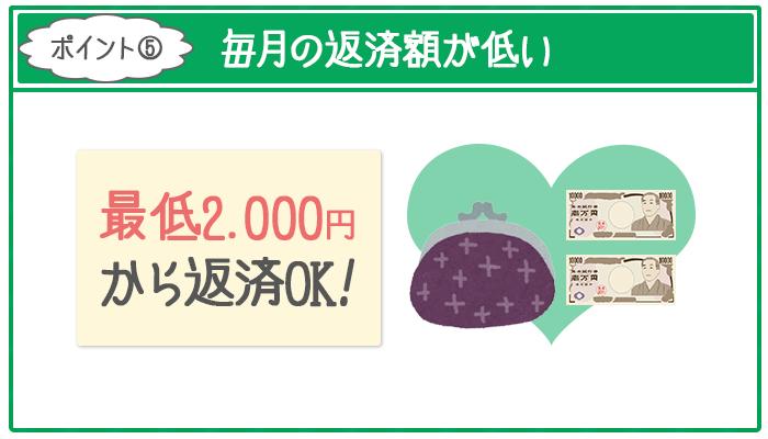 全国対応の地方銀行カードローンは毎月最低2000円からの返済で負担が少ない