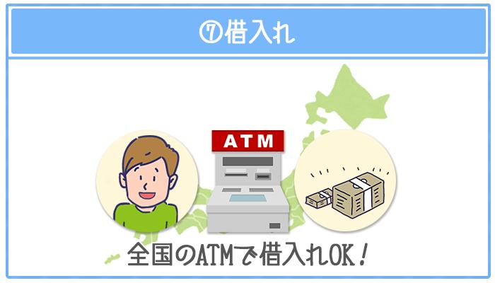 みずほ銀行では全国の提携ATMから借入できる
