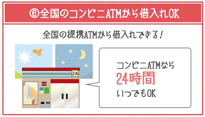 カードローンは全国の提携ATMで借入れができる