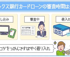 オリックス銀行カードローンの審査時間を解説!