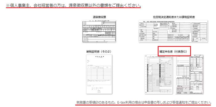 オリックス銀行ではE-taxで確定申告を提出した場合、受信通知の提出も必要