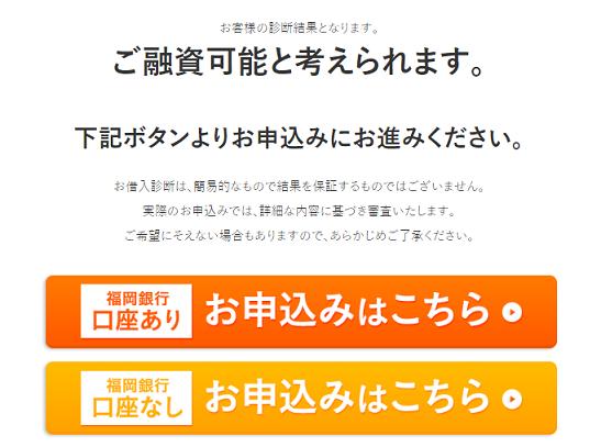 総量規制内のおまとめローン残高なら福岡銀行で借入れできる可能性が高い