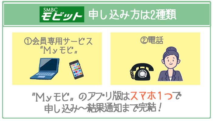 2つある増額審査の申し込み方法のうちオススメはMyモビのアプリ版。