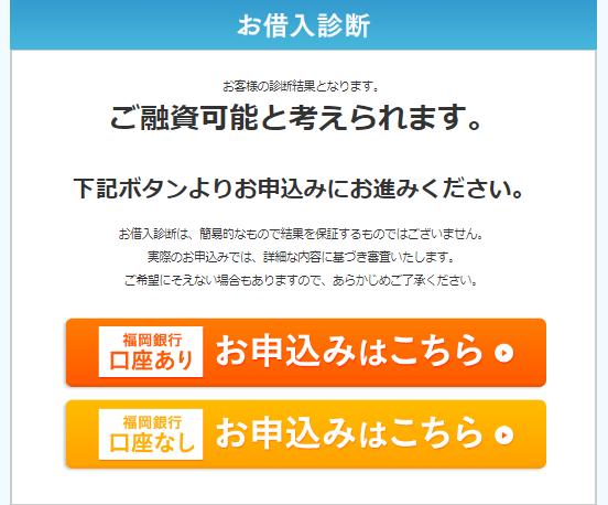 福岡銀行では借入できる可能性が高い