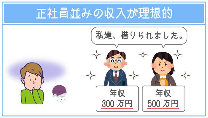 月収20万円以上の安定した収入があることが条件