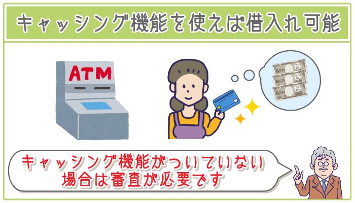 クレジットカードのキャッシング機能なら専業主婦も借入れ可能