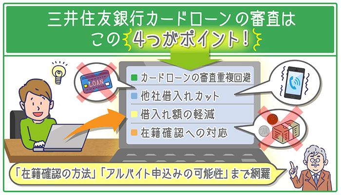 三井住友銀行カードローンの審査はこの4つがポイント!「在籍確認の方法」「アルバイト申込みの可能性」まで網羅