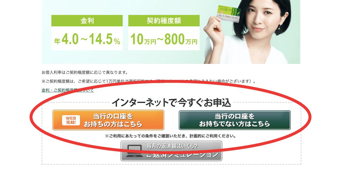 三井住友銀行カードローンのWeB完結申込みの方法