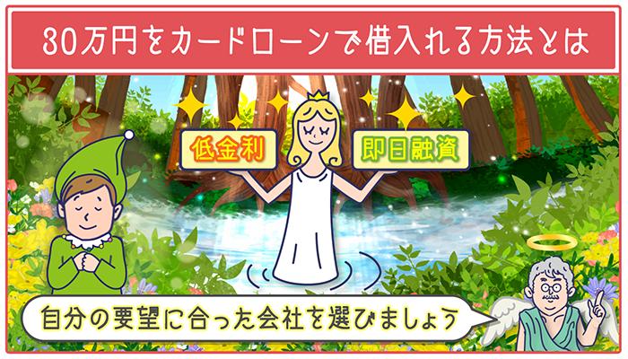 カードローンで30万円借入れる方法