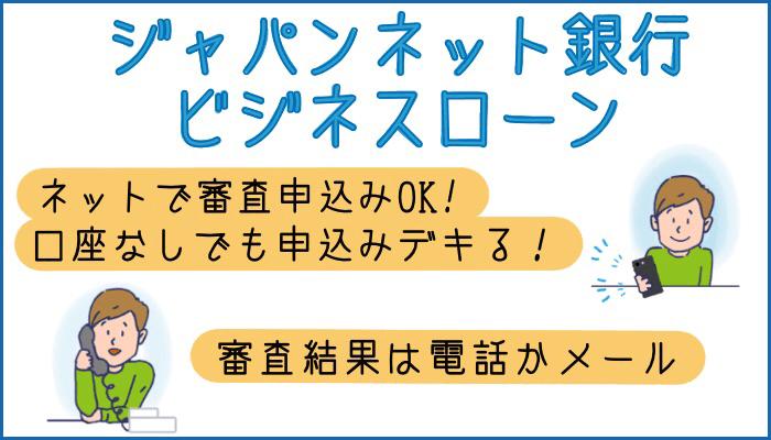 ジャパンネット銀行ビジネスローンの審査